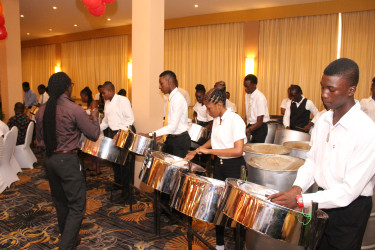 Participants from the National School of Music during a performance at Thursday's graduation ceremony. (Keno George photo)