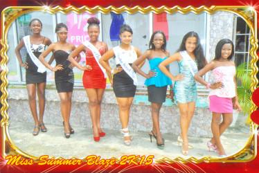 Summer Blaze Pageant Hopefuls