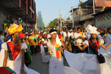 Guyana's contingent in Haiti (Stabroek News file photo)