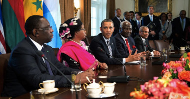 Obama and some of the African leaders