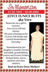 Joyce Butts aka Vern