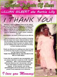 Lillian Gilbert aka Auntie Lilly