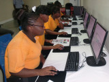School children at work in Starr Computers IT lab