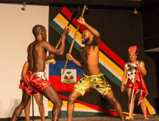 Guyanese performers in Haiti (Stabroek News file photo)