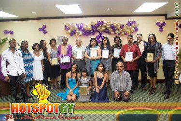 El Dorado honorees with The Caribbean Voice officials