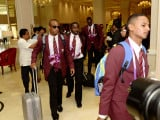 The West Indies players upon their arrival in Sri Lanka. (Courtesy of Sri Lanka Cricket Board website)