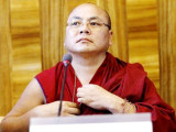 Former political prisoner Tibetan monk Golog Jigme speaks during a side event at the U.N. Human Rights Council in Geneva, Switzerland in this June 15, 2015 file photo. REUTERS/Pierre Albouy/Files