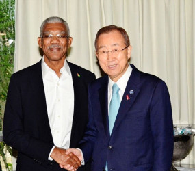 David Granger and Ban-Ki-Moon