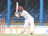 Kraigg Brathwaite topscored with 46 for the West Indies.