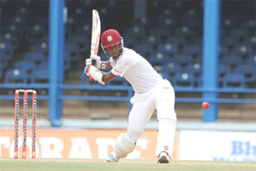 Kraigg Brathwaite topscored with 46 for the West Indies.