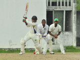 Vishaul Singh looked a complete batsman during his unbeaten first innings half-century yesterday.