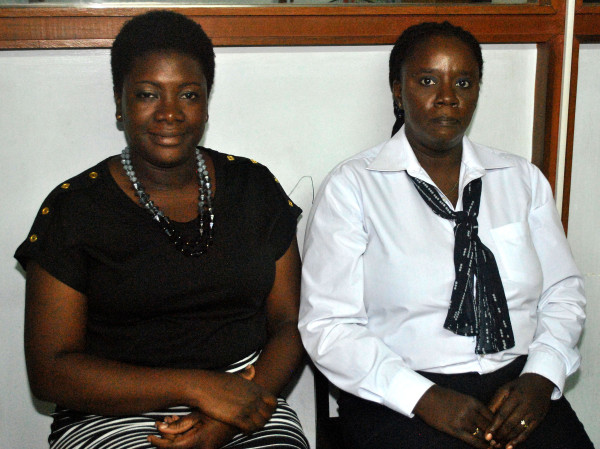 Consumer Affairs Division's Education Officer Kushana Archer and Head of Division Muriel Tinnis.