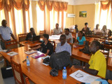 Researchers, extension officers and farmers at the Black Sigatoka disease training workshop at NAREI (GINA photo)