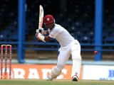 Opener Kraigg Brathwaite … top-scored with 46 for West Indies.