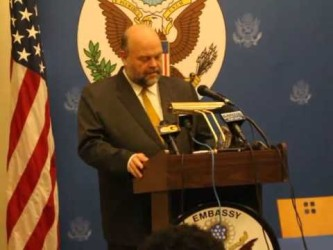 Press Conference at the USA Embassy