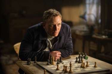 Bond is back at the chessboard! The ageless James Bond, much like the ageless game of chess, finds himself once again playing chess in his 24th and new film Spectre. British actor Daniel Craig (in photo) plays Bond. Chess was first introduced in the 1963 film From Russia With Love when Soviet grandmaster Kronsteen crushed the Canadian chess champion Mc Adams with an elegant combination beginning with a discovered check.