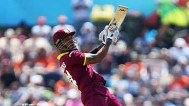 Opener Lendl Simmons … top-scored with 51 for Riders.