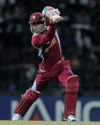 West Indies Marlon Samuels … extended his good form to take Comilla Victorians to their third straight win. (file photo)