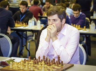 Peter Svidler, Russia's top board player at the 2015 European Team Chess Championships scored an impressive five points from eight games and a 2800 performance rating to assist his team in securing the coveted gold medal. In a field of 36 nations, Armenia grabbed the silver medal and Hungary the bronze in the men's competition