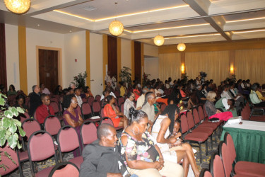 A section of the audience that attended the Guyana Prize for Literature Awards Ceremony at the Pegasus Hotel. The Guyana Prize was the brainchild of the late President Desmond Hoyte.