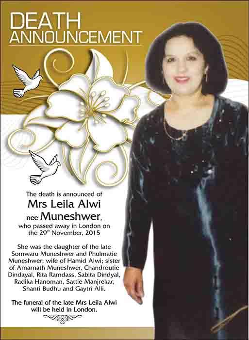 Leila Alwi nee Muneshwer