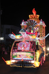 Bath Shri Krishna Mandir's float at last evening's Diwali Motorcade hosted by the Guyana Hindu Dharmic Sabha