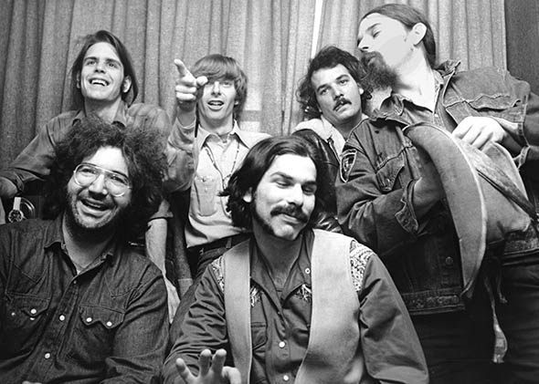 "The Grateful Dead (clockwise): Bob Weir, Phil Lesh, Bill Kreutzmann, Ron ""Pigpen"" McKernan, Mickey Hart and Jerry Garcia, circa 1970, United Kingdom."