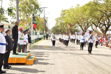President David Granger during the March-Past (GINA photo)