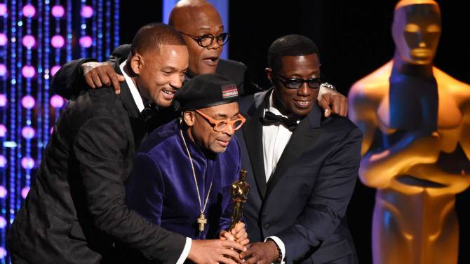 Oscar voters on Saturday gave honorary awards to three movie veterans, including director Spike Lee, at a gala event that shone a spotlight on Hollywood's drive for diversity amid its glitzy awards season.