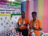 Roxanne Beresford and Claudette Croft used Business Exposition 2015 to self-promote. They quickly identified the supermarkets their air fresheners are sold at and spoke to Stabroek News about expanding. They noted that they used the expo to familiarise themselves with potential customers and to network as much as they could. They had hoped for larger businesses to be present that could offer them opportunities to carry their product.
