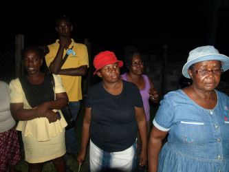 Residents of Savannah at the meeting (GWI photo)