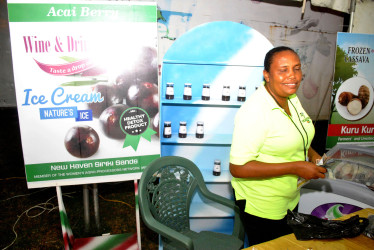 Vanessa D'Aguiar and her Acai  Products