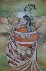 Kabakaburi Music Stephanie Correia Watercolour - 1998 Photo Courtesy of Castellani House