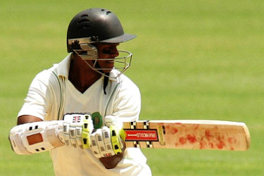 Shiv Chanderpaul revived images of his batting prowess with a knock of 82.