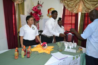 Sampling Clean Heart Juice at the Carnegie 'affair'
