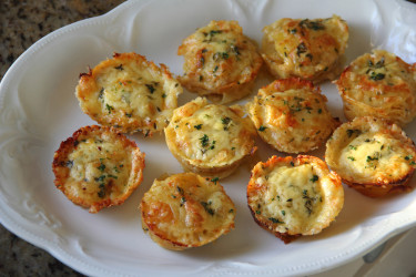 Thyme, Garlic and Cheddar Potato Stacks (Photo by Cynthia Nelson)