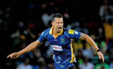 All-rounder Rayad Emrit … claimed two wickets and struck 54 not out to steer Bulls to victory.
