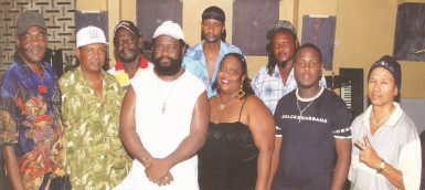 The Yoruba Singers with leader Eze Rockcliffe (fourth, left)
