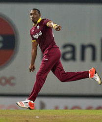 Dwayne Bravo … stroked 53 for Dolphins in a losing cause.