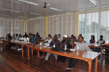 A section of the participants at last Saturday's meeting between sports associations and the National Sports Commission.