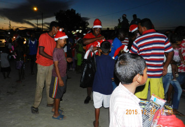 CJIA staff handing out presents