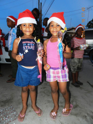 Two sisters were pleased with their presents
