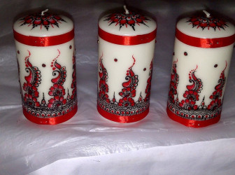 Narissa Shawh's designs on candles