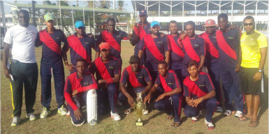 The victorious New Amsterdam/Canje/Lower Corentyne team.