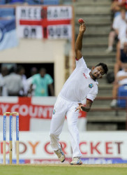 West Indies leg-spinner Devendra Bishoo … claimed two for 60. (file photo)