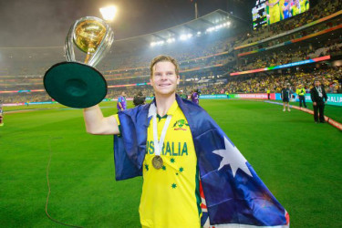 Steve Smith became the fourth Australia player and 11th player overall to win the prestigious Sir Garfield Sobers Trophy after being named as the (Caption) Steve Smith, above, became the fourth Australia player and 11th player overall to win the prestigious Sir Garfield Sobers Trophy after being named ICC Cricketer of the Year 2015. (Picture ICC website)