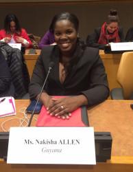 Nakisha at the UN in New York