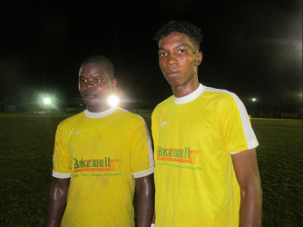 Topp XX Scorers from left to right-Travis Watterton and Keon Hall