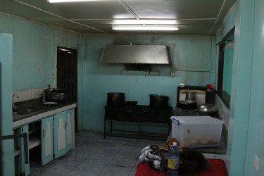 The kitchen area of the Drop-In Centre