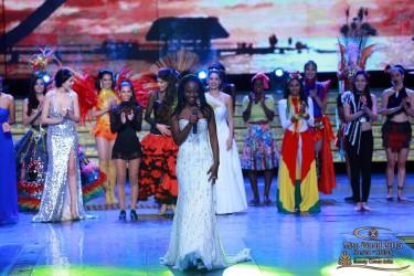 Miss Guyana World Lisa Punch on stage. (Miss World photo)